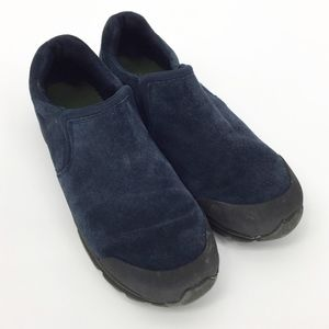 Lands' End Blue Suede Boys All Weather Moccasin